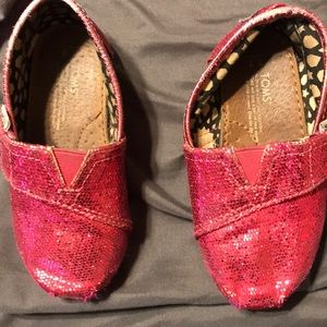 Toms glitter pink  shoes